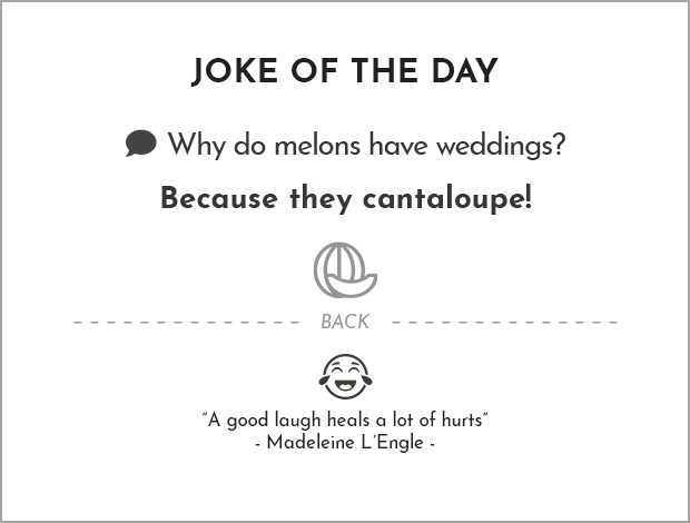 Cantaloupe Joke : Why did the cantaloupe 🍈 jump into the pool?